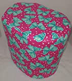 Pink Roses Food Processor Cover (All Pink & Teal Butterflies, Large)