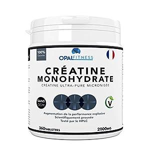 Créatine Complément Alimentaire par Opal Fitness | Comprimés de créatine de monohydrate | Augmentation de la puissance…
