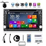 Latest Win 8 Ui Design 6.2 inch In-dash Double-din LCD Touch Screen Navigation Car Video Audio Radio Auto Stereo with Bluetooth,Subwoofer output+Free GPS Antenna+Review Camera
