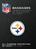 "NFL Officially Licensed Bandages, 1""x3"", 50/box (Pittsburgh Steelers)"