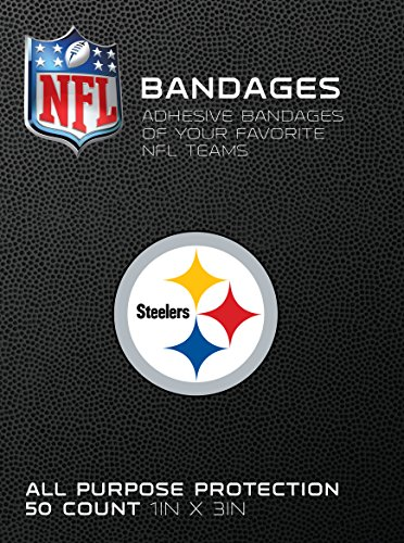 NFL Officially Licensed Bandages, 1x3, 50/box (Pittsburgh Steelers)