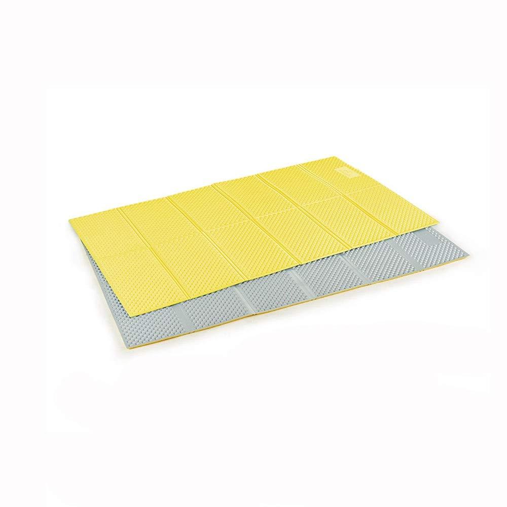 ピクニックマット - 防湿マット、屋外折りたたみ肥厚マットナップマットテントピクニックマット (色 : イエロー いえろ゜)  イエロー いえろ゜ B07NY2CWLD