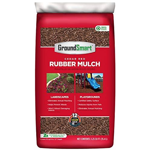 Rubber Landscaping Mulch - GroundSmart Rubber Mulch, Cedar Red (1.25 cu. ft. Bag)