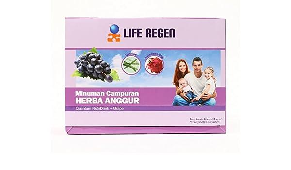 Amazon.com : Liquid Nutrition LIFE REGEN Quantum Nutridrink + Grape ...