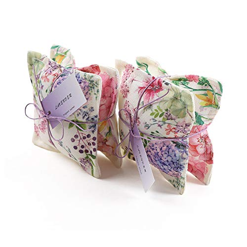 Aucuda Lavender Sachets Sachet Bags Scented Sachets for Closets and Drawers,Linen, Lavender Scent, Lot of 4, Great Gift
