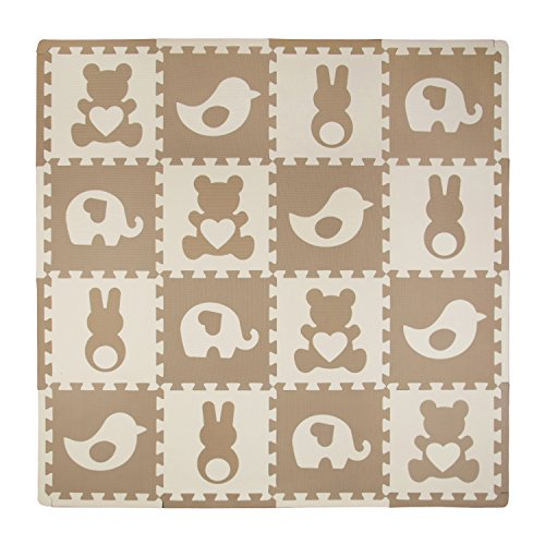 Tadpoles Playmat Set, Teddy and Friends Brown from Tadpoles