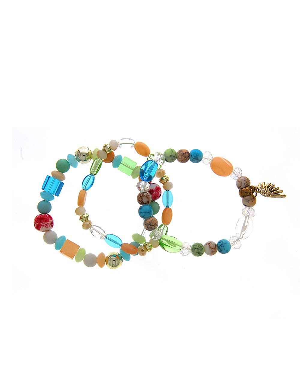 Anuradha Art Blue Colour Styled with Beads /& Decorative Beads Cuff Hand Bracelets for Women//Girls