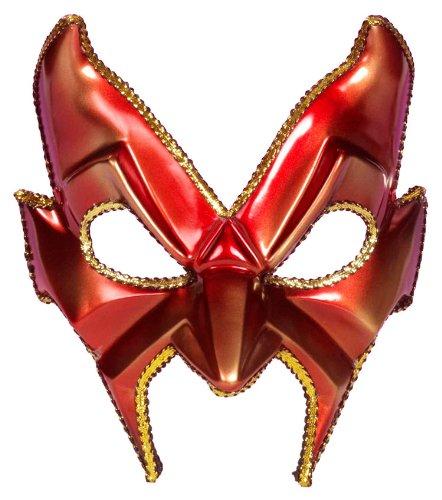 Forum Novelties Red Devil Man Mask-Adult (New Orleans Masks For Sale)