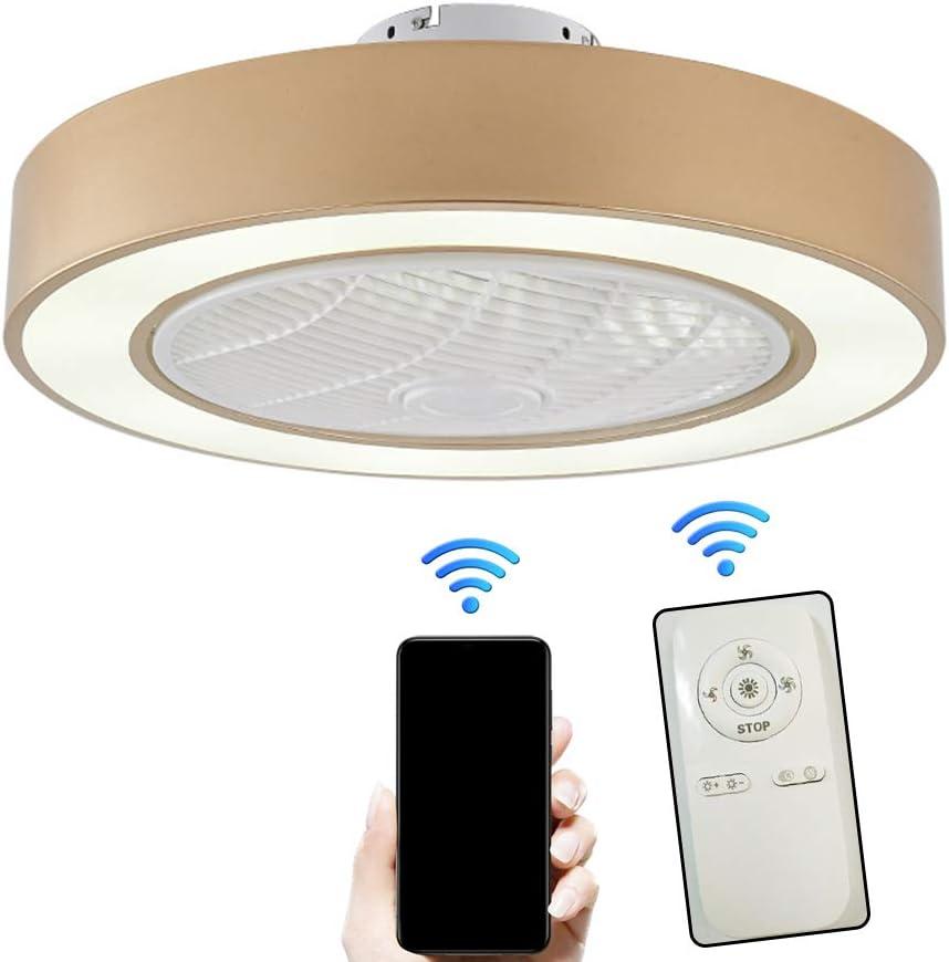 LMYMX Ventilador de Techo con Luz y Mando a Distancia, LED Ventilador Iluminación Velocidad del Viento Ajustable, Moderno Ventilador Luces para Habitación de Niños Comedor
