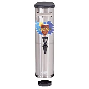 "Wilbur Curtis Iced Tea Dispenser 3.5 Gallon Narrow Tea Dispenser, 22""H - Designed to Preserve Flavor- TCN (Each)"