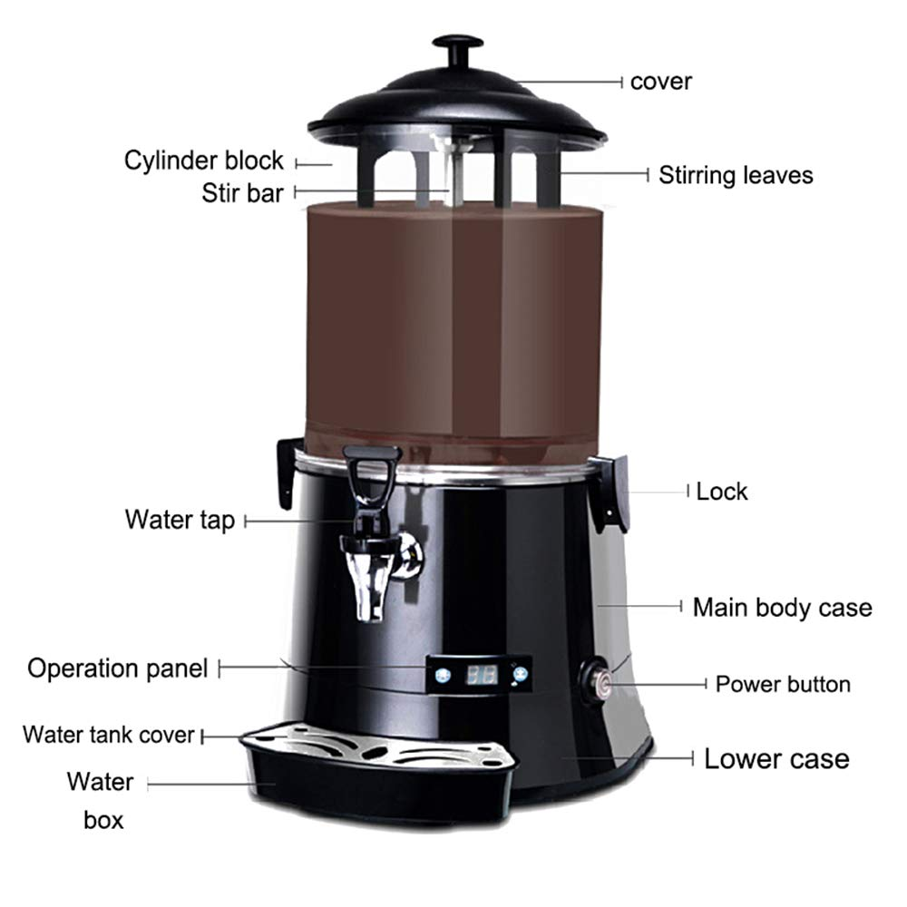 220V, 10L YUCHENGTECH 10L Commercial Hot Chocolate Maker Machine Chocolate/Dispenser/Warmer Hot Beverage Warmer for heating Chocolate Coffee Milktea CE Certification