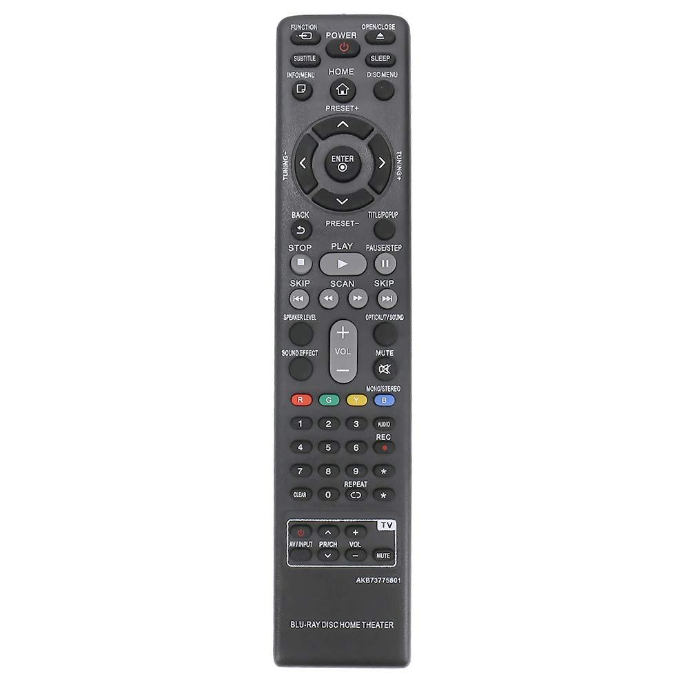 AKB73775801 交換用リモコン 対応機種: LG Blu-ray ホームシアター BH5140 BH5140S S54S1-S S54T1-W BH5440P S54T1-S S54T1-C BH5540T BH5140SF0 LHB655 S65T1-S S65T1-C S65T1-W LHB655FB LHB675 LHB675FB   B07P4652S5
