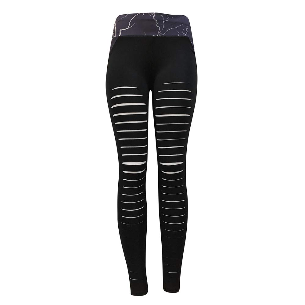 NUWFOR Yoga Pants for Women, High Waisted Power Mesh Workout Running Exercise Leggings Pants Black for Winter/Full(Black,M) by NUWFOR (Image #6)