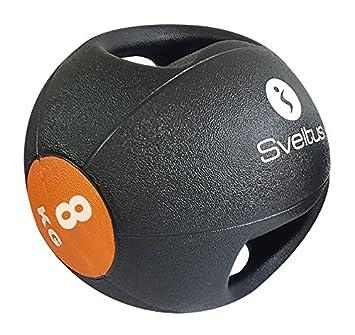 Sveltus balón Medicinal 8 kg con Asas: Amazon.es: Deportes y aire ...