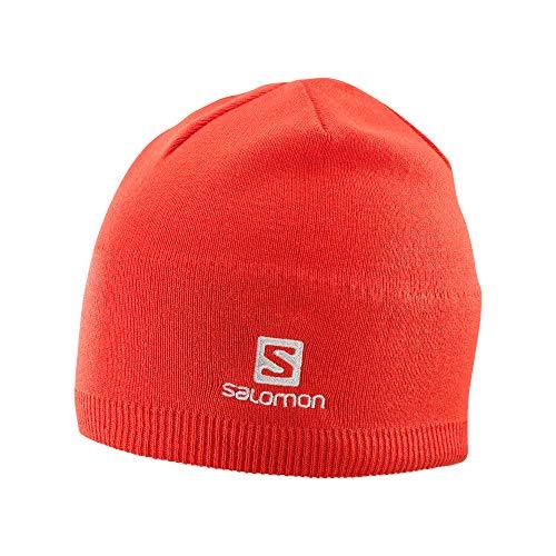 Salomon Beanie - Gorro para Clima frío, Color Rojo Cerezo, Talla única