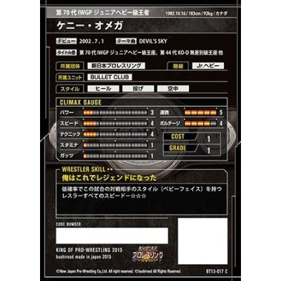 King of Pro Wrestling 13th edition / BT13-017 / C / Kenny