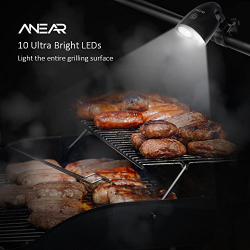 Amazon anear barbecue grill light handle mount bbq grill amazon anear barbecue grill light handle mount bbq grill light touch sensor switch with bbq recipes ebook home improvement aloadofball Choice Image