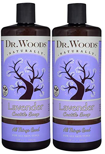 Dr. Woods Pure Relaxing Lavender Liquid Castile Soap, 32 Ounce (Pack of -