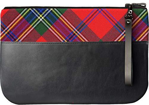 iPad MacLean Tartan Clutch Modern Leather an Bag Fits with Medium Dress xvqFg4Cw