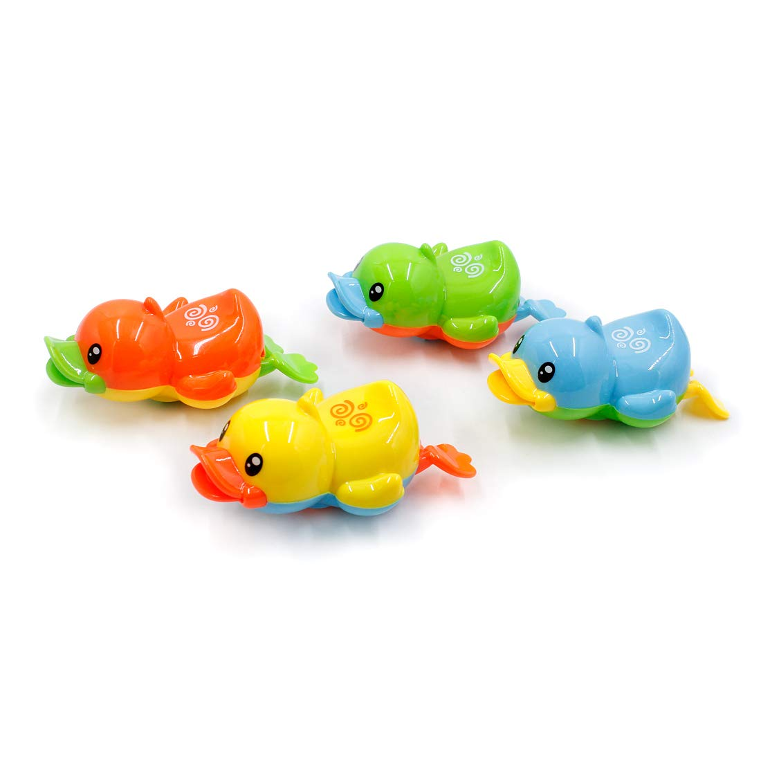 4 Pack SHENZHEN BEIHUI TECHNOLOGY CO LTD. BEIHUI Swimming Water Wind Up Kids Baby Bath Toys Bathtub tub Duck Floating Animal Toys for Toddlers Boys Girls at 1 2 3 Years Old