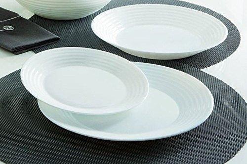Luminarc Harena 12 Piece Opel Glass Dinner Plate Set