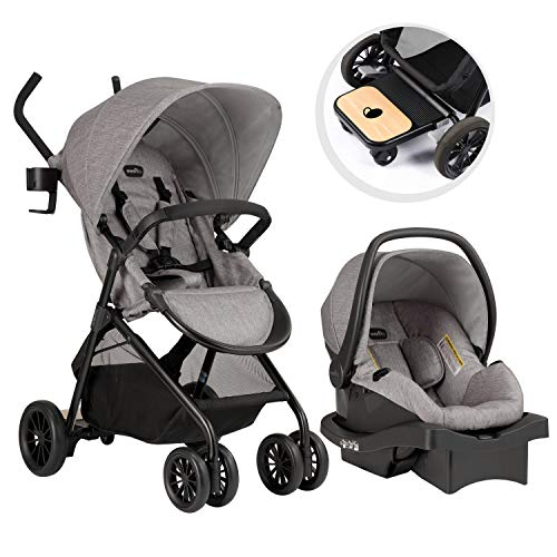 (Evenflo Sibby Travel System with LiteMax 35 Infant Car Seat, Mineral Gray)