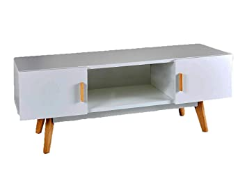 Modern Scandinavian White Retro Home Furniture Range With Solid Oak Legs Sideboard Tv Stand Coffee Tables And Dining Furniture Grey Tv Stand