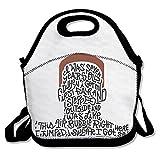 Cool Macklemore Wings Lyric Type Poster Lunch Bag