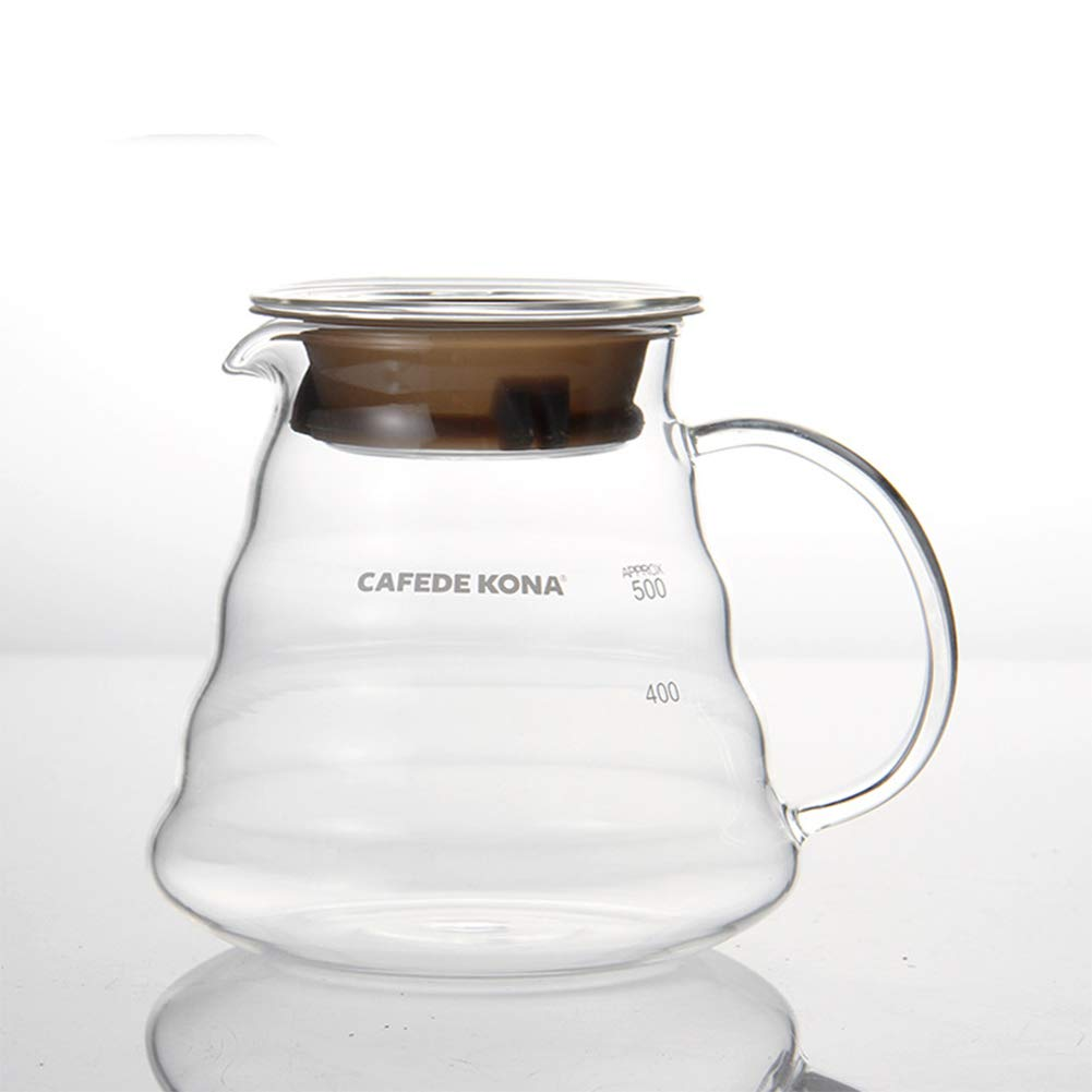 Cafetera de mano CAFEDE KONA para el hogar, resistente al calor ...