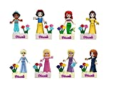 Mingyaa 8 pcs Girls Friends & princess series Minifigures Action Figures Building Block Toy& DIY bricks baby toy