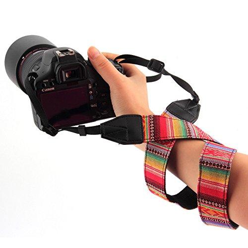 CEARI VSM-05 Vintage Camera Shoulder Neck Strap for Canon EOS Rebel T6S T6 T5i T5 T4i T3i T3 T2i T1i XTi XT XSi XS SL1 Digital SLR Camera – Multicolor
