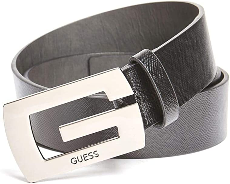 GUESS Factory Mens Saffiano Logo Belt