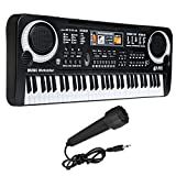 GreenSun TM 61 Keys Electronic Piano Keyboard with Microphone Educational Toy Portable Electronic PianoToy Kids Birthday Gift