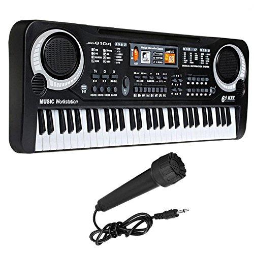 Greensun TM 61キー電子ピアノキーボードマイク付き教育玩具ポータブル電子PianoToy子供誕生日ギフト   B07DP7BXNX