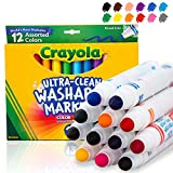 Crayola Ultra Clean Washable Markers, Broad Line, 12 Count: more info