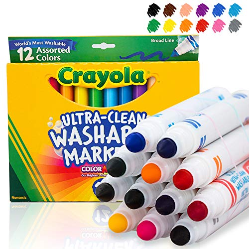 Crayola 12 Ct Ultra-Clean Washable Markers