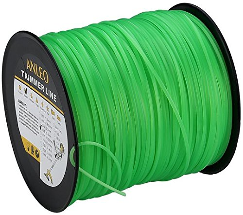 ANLEO 1PCS Economical Residential Grade Square .095-Inch 5-Pound Spool Lawn Trimmer Line Rope Brushcutter Accessories - Brushcutter Trimmer String