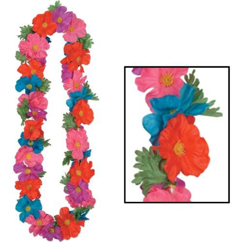 Silk 'N Petals Tropical Lei (multi-color) Party Accessory  (1 count) - Multi Color Lei