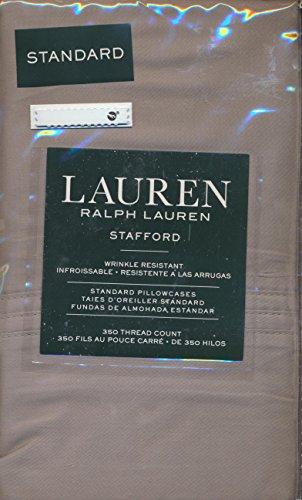 Stafford Bedding (Lauren Ralph Lauren Stafford (2) Standard Pillowcases 100% Cotton Sateen - Gray)