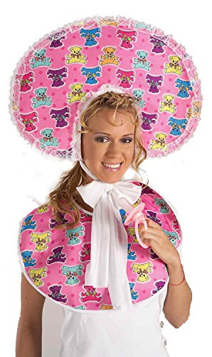 FGFK Halloween Costumes by HCFS Deluxe Pink Baby Bonnet and Bib]()