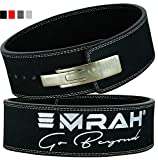 EMRAH Pro Buff Hide Leather Powerlifting Lever Buckle Gym Workout Fitness Crossfit Weightlifting