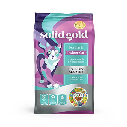Solid Gold Indoor Cat Dry Food; Let's Stay in Grain Free wit