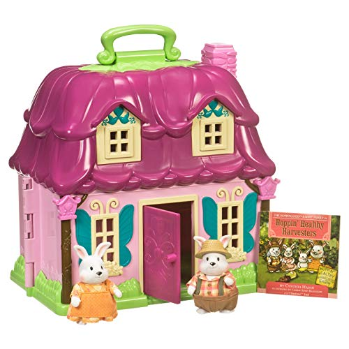 Li'l Woodzeez 6103M Countryside Cottage with Amelia & Elliot Hoppingood and ()