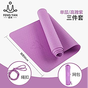 YOOMAT 80cm Yoga Mat TPE Grueso Ancho extendido ...