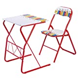 Giantex Table Chairs Set Kids Study Writing Lovely Home School Folding Children New