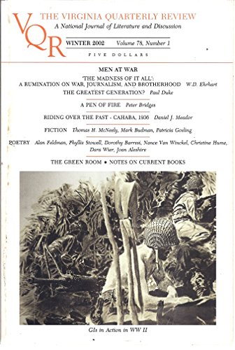The Virginia Quarterly Review (volume 78, Number 1 - Winter 2002 - Cover: GIs in Action in WW II)