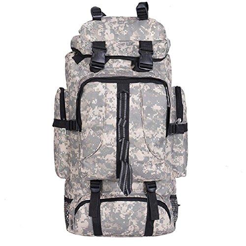 ZC&J 56-75L mochila táctica de gran capacidad, elegante y cómodo camuflaje alpinismo mochila, hombres y mujeres universal multiusos salvaje camping mochila,A,56-75L B