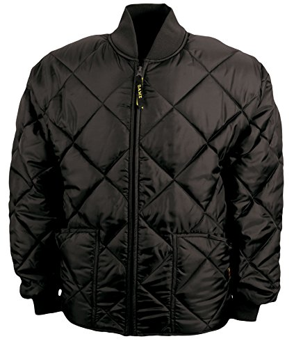 Game Sportswear Men's Diamond Quilt Jacket Large Black (Jacket Game)