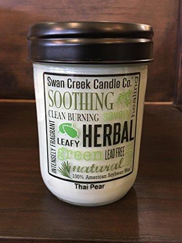 Swan Creek ''Thai Pear'' 75 Hour, 12 Ounce Soy Candle in Glass Jar by Swan Creek