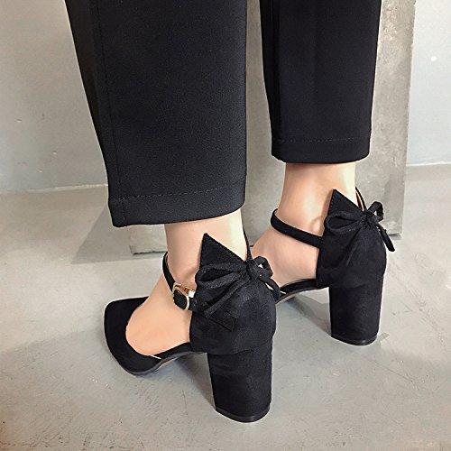Ranurada Sugerencia La Tacones Única SHOESHAOGE De Pajarita Altos con Sandalias EU38 Zapatos Mujer Irregular Zapatos Eu39 Mujer Correa qw51pCxZ